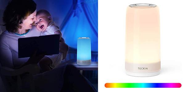 Teckin lámpara táctil para mesita de noche chollo