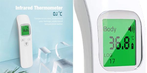 Termómetro infrarrojo sin contacto Tickas para la frente barato en Amazon