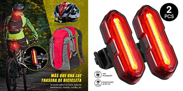 Topelek luces traseras bicicleta chollo