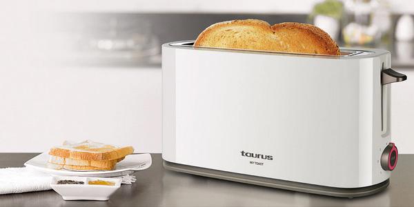 Tostadora Taurus My Toast de ranura extra larga y ancha de 1.000W barata en Amazon