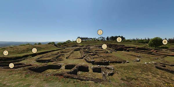 visita virtual al Castro de Viladonga en Galicia
