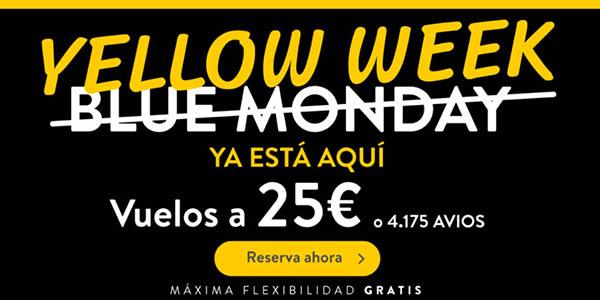 Vueling promoción Yellow Week enero 2021