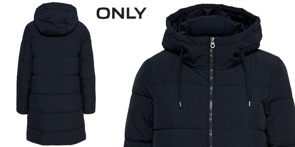 Abrigo Only Onldolly Long Puffer Coat para mujer chollo en Amazon