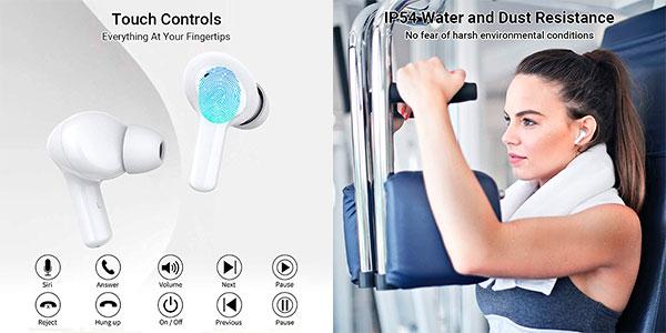 Auriculares Bluetooth Honor Choice con cancelación de ruido baratos