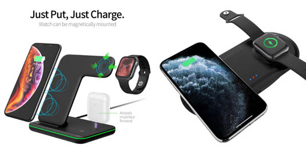 base carga inalámbrica iPhone Apple watch chollo