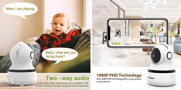 Cacagoo cámara vigilancia IP Wifi 1080P oferta
