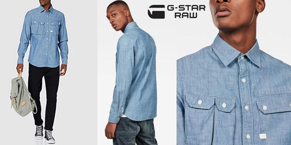 Camisa G-STAR RAW Ospak Slim para hombre barata en Amazon