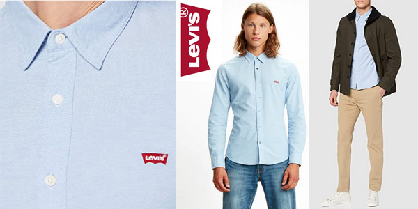 Camisa Levi's LS Battery Hm Shirt Slim para hombre chollo en Amazon