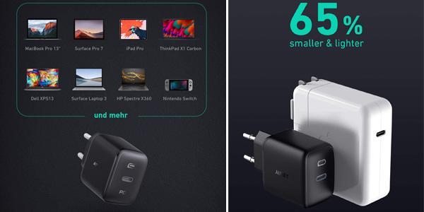 Cargador USB C Aukey Omnia de 61W con tecnología GaNFast chollo en Amazon