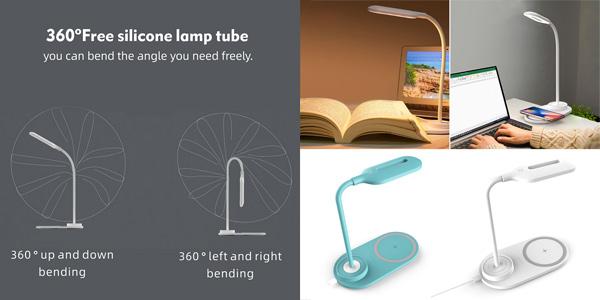 Cargador inalámbrico con lámpara LED Vevice chollo en AliExpress