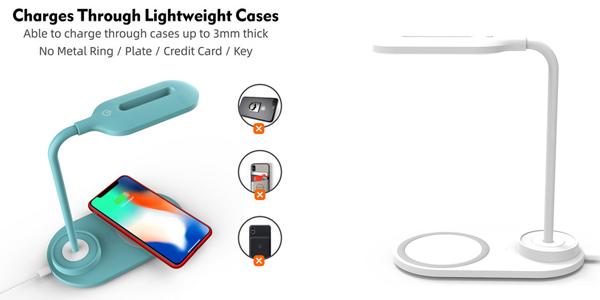 Cargador inalámbrico con lámpara LED Vevice barato en AliExpress