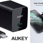 Chollo Cargador Aukey USB-C de 18 W con carga rápida