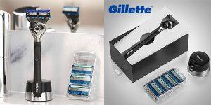 Chollo Gillette Fusion5 ProGlide con base magnética y 4 cuchillas de recambio