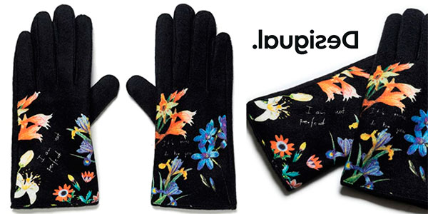 Chollo Guantes Desigual Flowerish