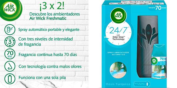 Chollo Pack de 3 ambientadores Air Wick Freshmatic + recambio