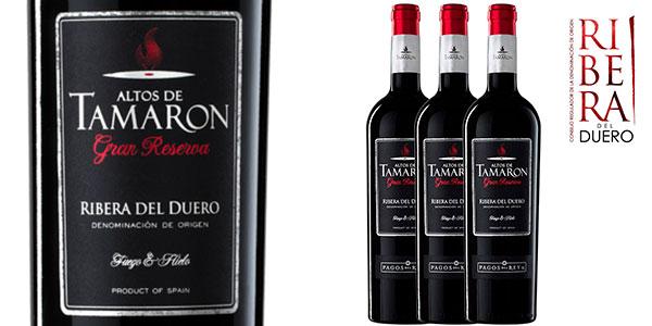 Chollo Pack de 3 botellas Vino tinto Altos de Tamarón Gran Reserva D.O Ribera del Duero