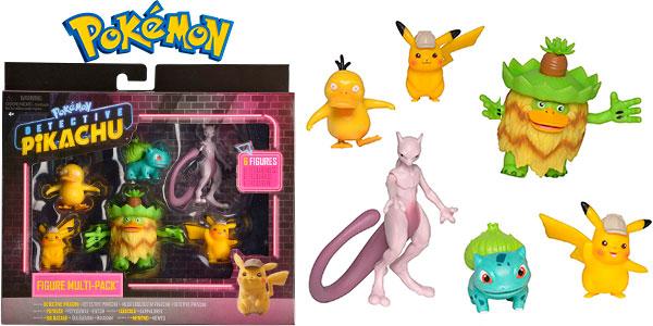 Chollo Pack de 6 figuras Detective Pikachu de Bizak