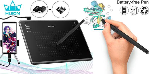 Chollo Tableta gráfica de dibujo Huion Inspiroy H430P con stylus
