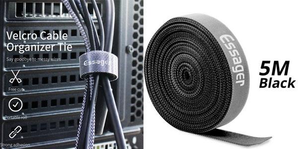 5 metros de velcro para organizar cables barato en AliExpress