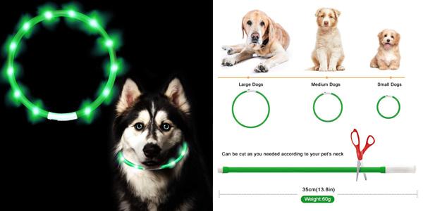 Collar LED Asanmu para perros barato en Amazon