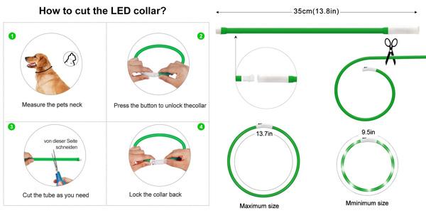 Collar LED Asanmu para perros oferta en Amazon