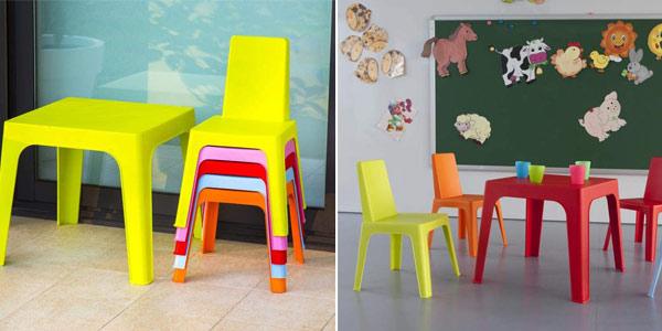Set infantil resol Julieta de mesa y 4 sillas chollo en Amazon