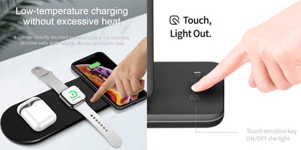 estación carga rápida iPhone Apple Watch oferta