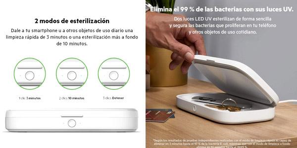 Esterilizador UV Belkin y cargador inalámbrico para smartphone chollo en Amazon