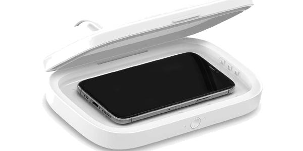 Esterilizador UV Belkin y cargador inalámbrico para smartphone barato en Amazon