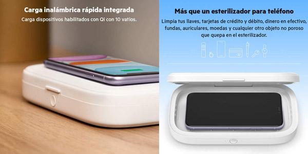 Esterilizador UV Belkin y cargador inalámbrico para smartphone oferta en Amazon