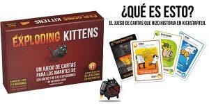 Juego de cartas Exploding Kittens (Gatitos Explosivos)