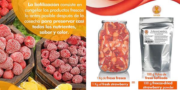 fresas liofilizadas Snadi polvos oferta