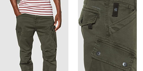Pantalones G-Star Raw Roxic Tapered Cargo en oferta en Amazon