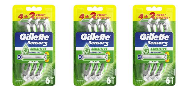Gilette Sensor 3 maquinillas desechables baratas