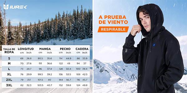 Iurek ZD940 sudadera calefactable chollo con cupón descuento Amazon