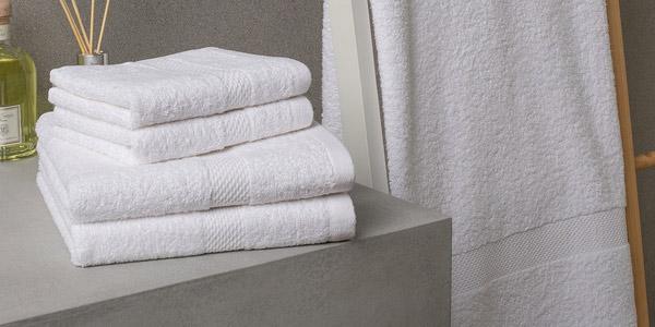 Juego de 5 toallas algodón Basic oferta en El Corte Inglés