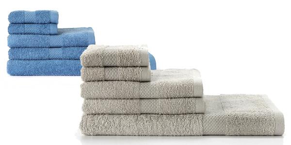 Juego de 5 toallas algodón Basic barato en El Corte Inglés