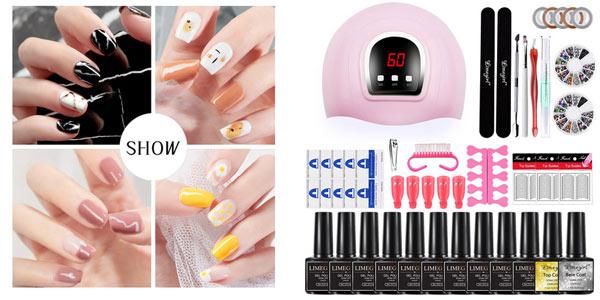Juego de manicura con lámpara LED secadora de uñas barato en AliExpress
