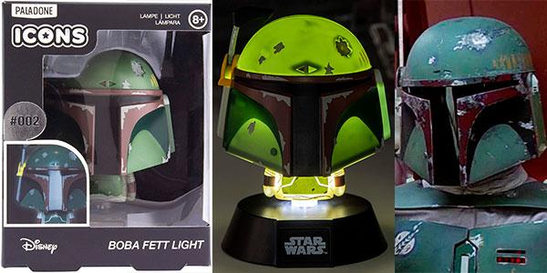 Lámpara 3D Star Wars Boba Fett Icon de Paladone barata
