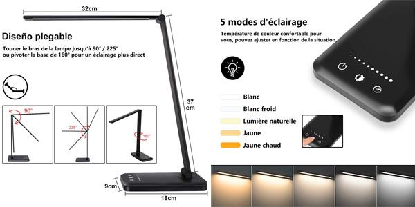 Lámpara Escritorio LED Stator con 10 niveles de brillo y temporizador oferta en Amazon