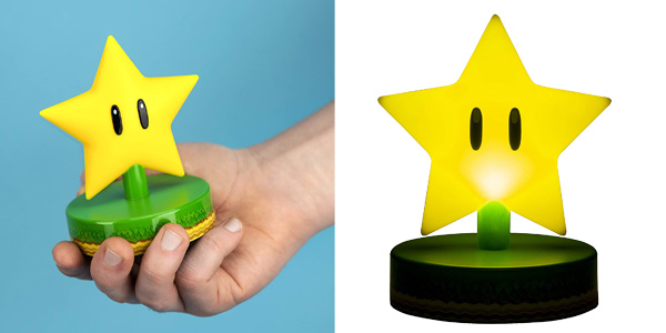 Luz de mesita de noche Paladone Mario Super Star Light chollo en Amazon