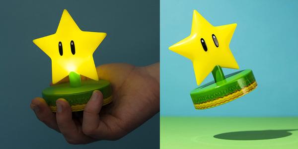 Luz de mesita de noche Paladone Mario Super Star Light oferta en Amazon