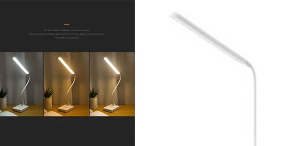 lámpara de escritorio plegable regulable USB relación calidad-precio