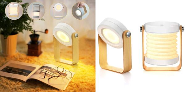Lámpara LED plegable de mesilla de noche Bromose regulable táctil barata en Amazon