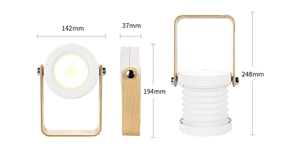 Lámpara LED plegable de mesilla de noche Bromose regulable táctil oferta en Amazon