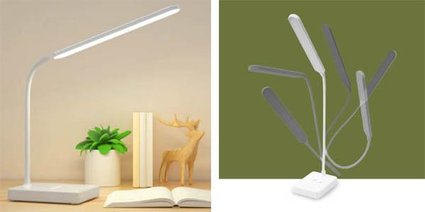 lámpara LED escritorio plegable USB barata