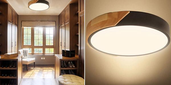 Lámpara LED de techo moderna Kambo de 24 W barata en Amazon