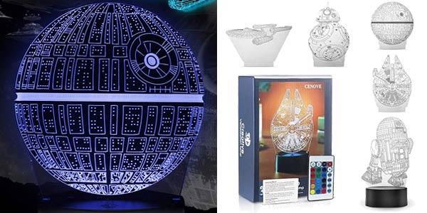 Lámpara LED 3D holográfica Cenove barata en Amazon
