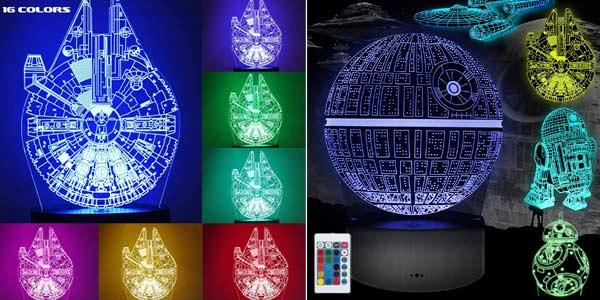 Lámpara LED 3D holográfica Cenove oferta en Amazon