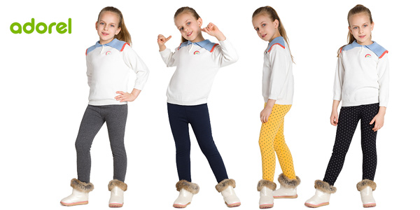 Leggings térmicos Adorel para niñas baratos en Amazon